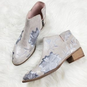 Seychelles Lantern Embroidered Sparkly Booties